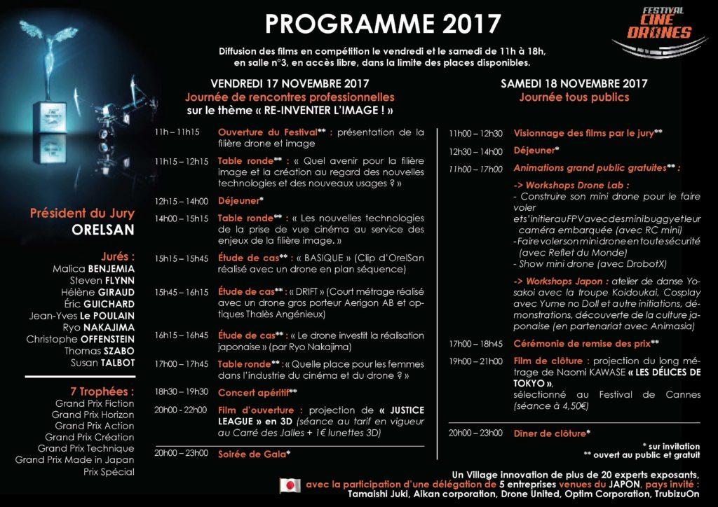 Programme CinéDrones 2017